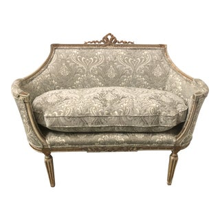 Carved Giltwood French Settee For Sale