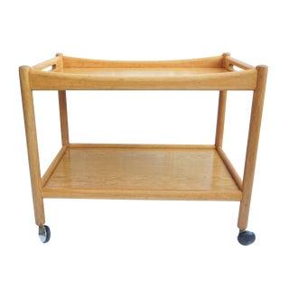 Hans J. Wegner PP Mobler Oak Bar Cart