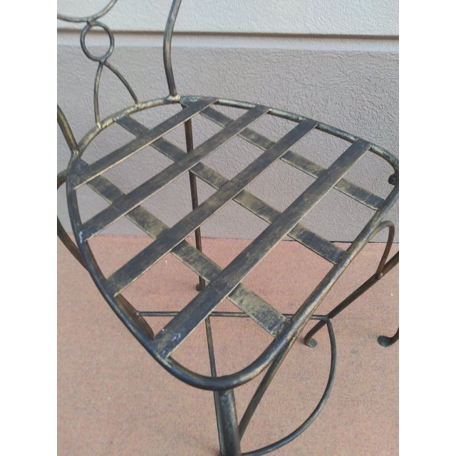 Metal John Risley Style Sculptural Figural Wrought Iron Bar Stools - a Pair For Sale - Image 7 of 13