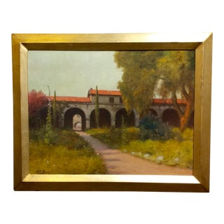 William Barr -Mission Capistrano c1920s -Impressionist California Oil painting