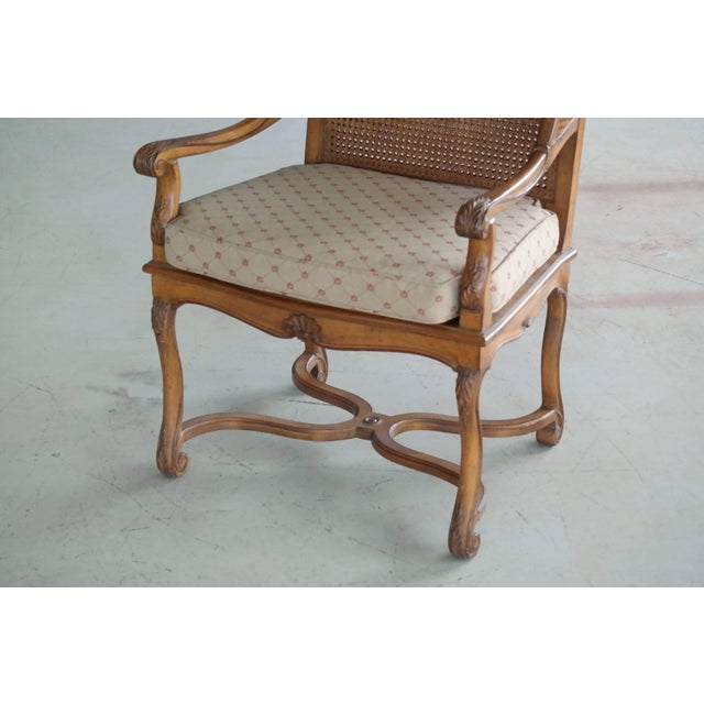 Empire 1920s Hollywood Regency Cane Wingback Chair For Sale - Image 3 of 10