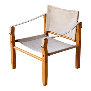 Canvas Safari Chair For Sale