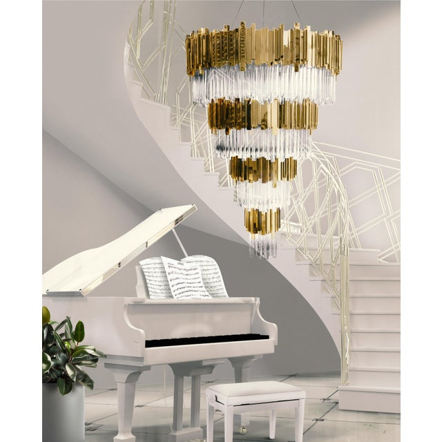 2010s Empire Chandelier For Sale - Image 5 of 6