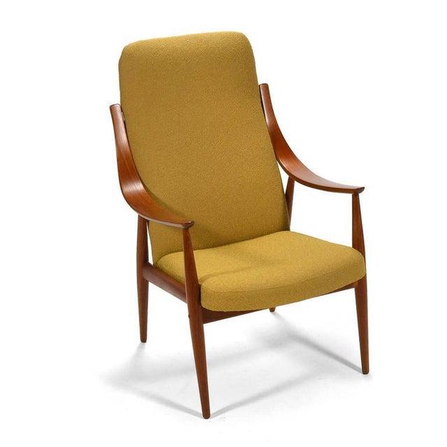 Brown Peter Hvidt & Orla Mølgaard-Nielsen High Back Easy Chair For Sale - Image 8 of 11