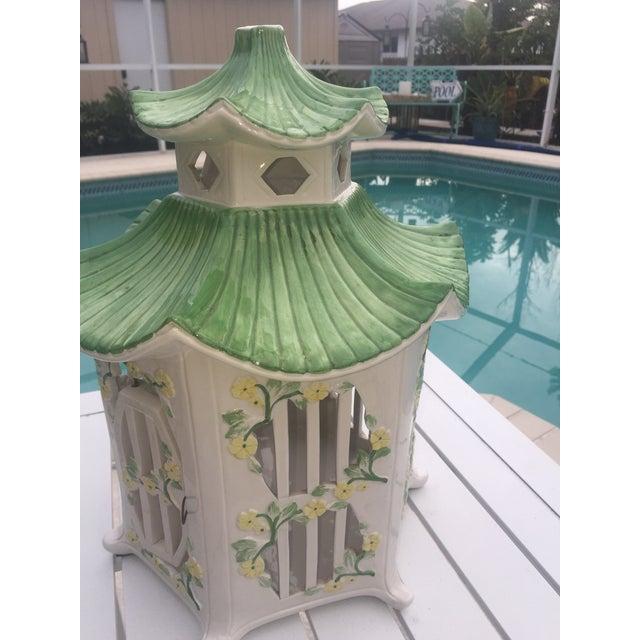 Italian Ceramic Pagoda Birdhouse - Image 3 of 8