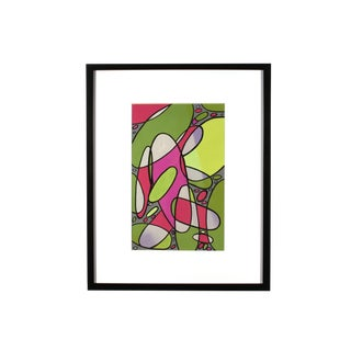 1960s Leo Dean Williams Signed Abstract Gouache Painting For Sale