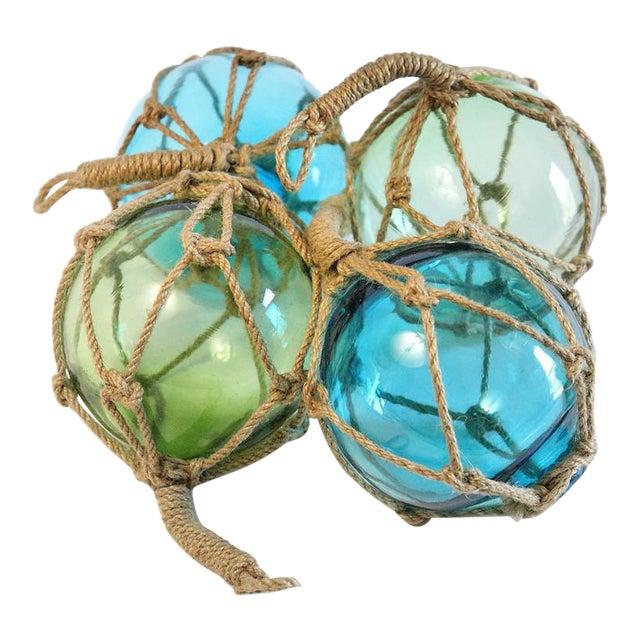Glass Fishing Floats - Set of 4 - Image 1 of 5