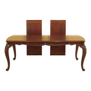 Maitland-Smith French Style Carved Mahogany Dining Table For Sale