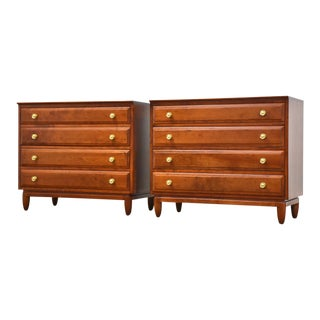 Cherry Dresser Chests by Willett- a Pair For Sale