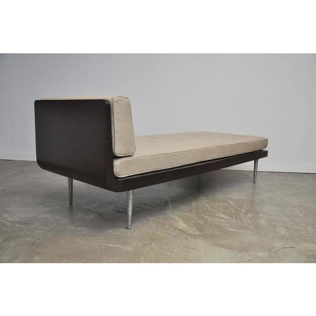 Rare chaise lounge designed by Edward Wormley for Dunbar. Model 1997, design, circa 1941. Fully restored and reupholstered...