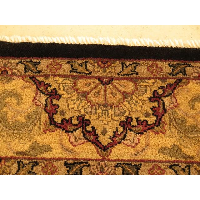 Vintage Black & Gold Wool Rug - 6' X 9' For Sale - Image 4 of 11