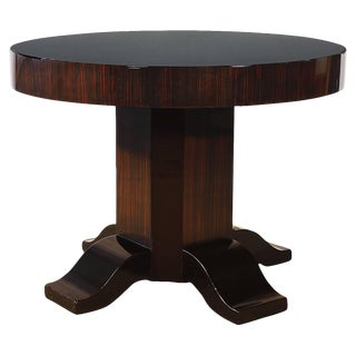 1930´s Large Art Deco Sidetable, mahogany, Macassar ebony, opaline - France For Sale