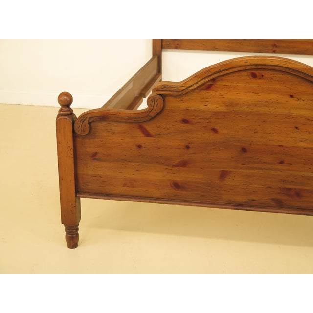 Pine Habersham Plantation Queen Size Pine Country Bed For Sale - Image 7 of 12