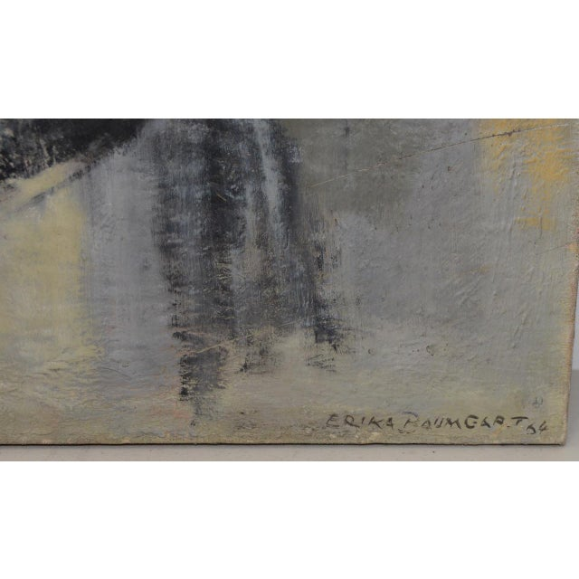 Abstract Mid Century Modern Abstract by Erika Baumgart c.1964 For Sale - Image 3 of 9