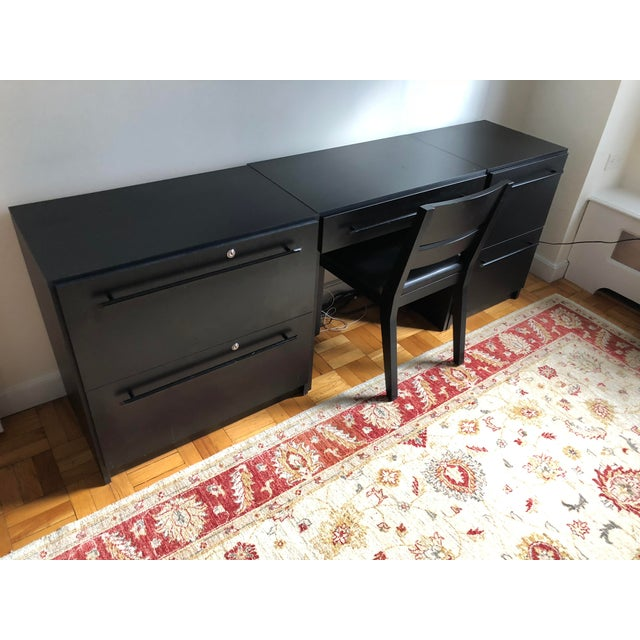 Office Modular Filing Cabinet Desk & Chair For Sale - Image 4 of 13