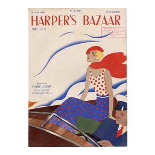 """Harper's Bazaar, July 1932."" Original Vintage Fashion Magazine Cover For Sale"