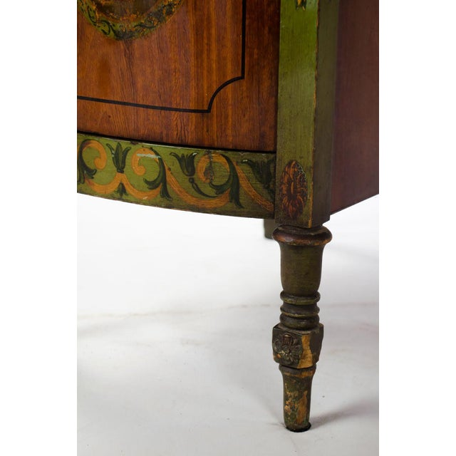 Mid 19th Century Vintage French Provincial Hand Painted Writing Desk For Sale - Image 10 of 13