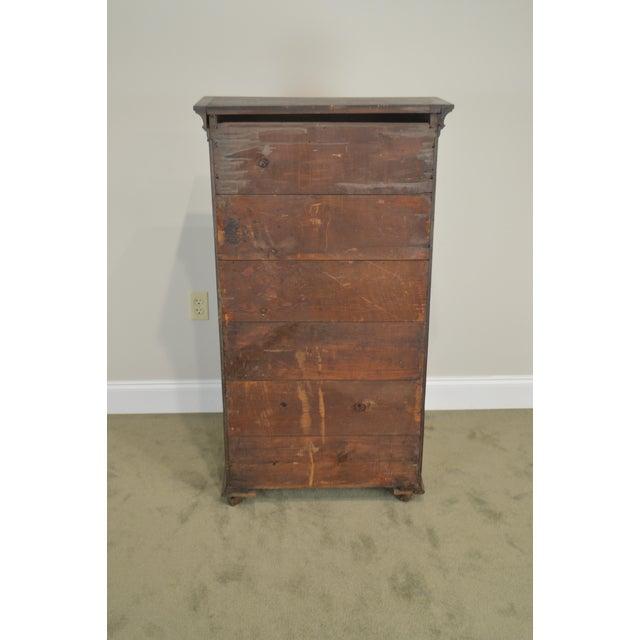 Antique Miniature Victorian Oak 2 Door Bookcase Cabinet For Sale - Image 4 of 13