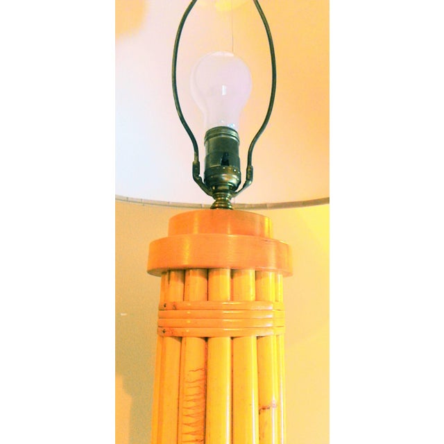 Vintage Regency Style Bamboo Lamp - Image 8 of 8