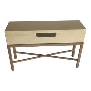 1980s Maitland Smith Rectangular Box on Stand Console For Sale