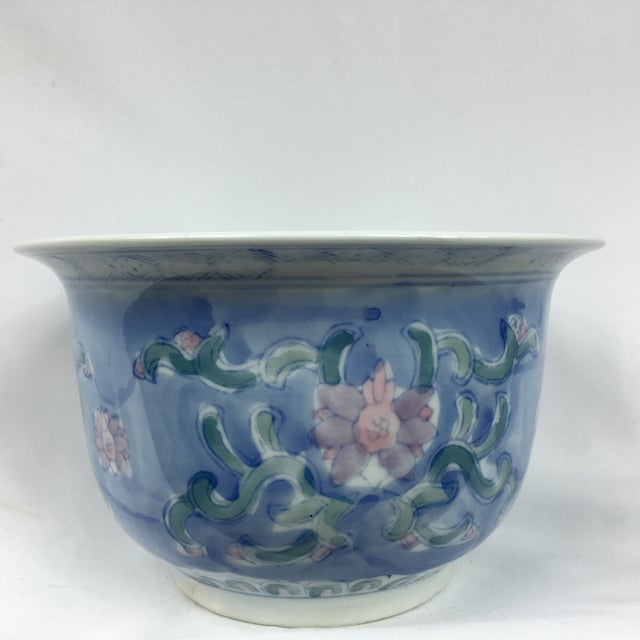 Vintage Chinoiserie Porcelain Garden Planter Pot - Image 2 of 9