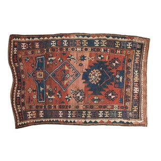 "Antique Caucasian Rug - 3'10"" X 5'9"" For Sale"