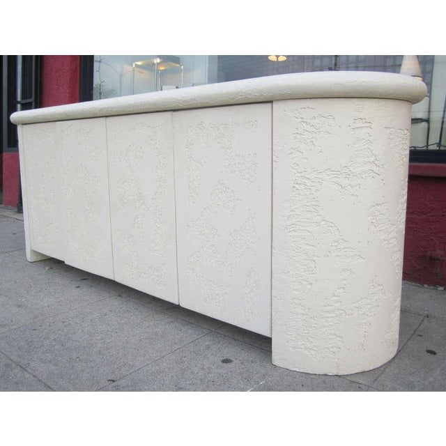 Neoclassical Neo-Classical Textured Credenza For Sale - Image 3 of 9