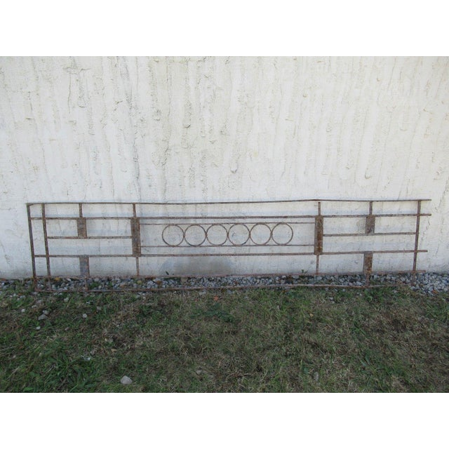 Antique Victorian Iron Gate Window Garden Fence Architectural Salvage Door #072 For Sale In Philadelphia - Image 6 of 6