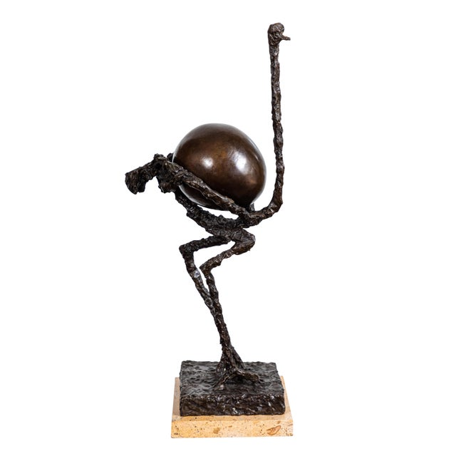 Bronze Ostrich Sculpture For Sale - Image 11 of 11