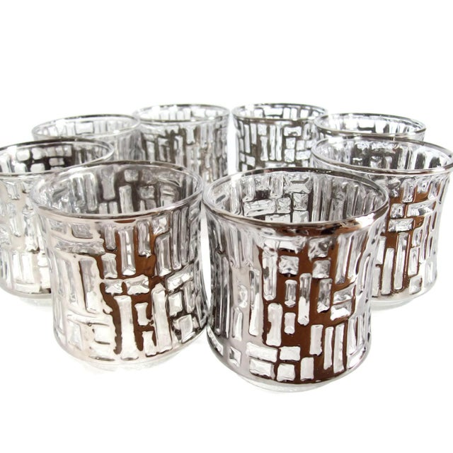 Mid-Century Artica Lowball Glasses, Silver Bamboo - Image 5 of 7