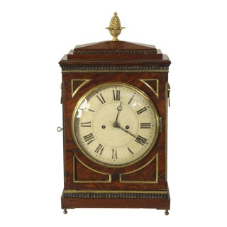 Regency Mahogany & Brass Mantel Clock