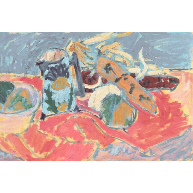 'Still Life' by Victor Di Gesu; 1955 Paris, Louvre, Académie Chaumière, California Post-Impressionist, Lacma For Sale - Image 10 of 10