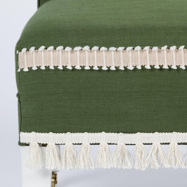 Textile Casa Cosima Sintra Chair in Verdure Linen For Sale - Image 7 of 9