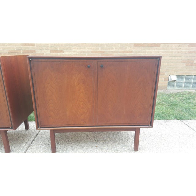 Milo Baughman for Arch Gordon Walnut Cabinets - A Pair - Image 4 of 11