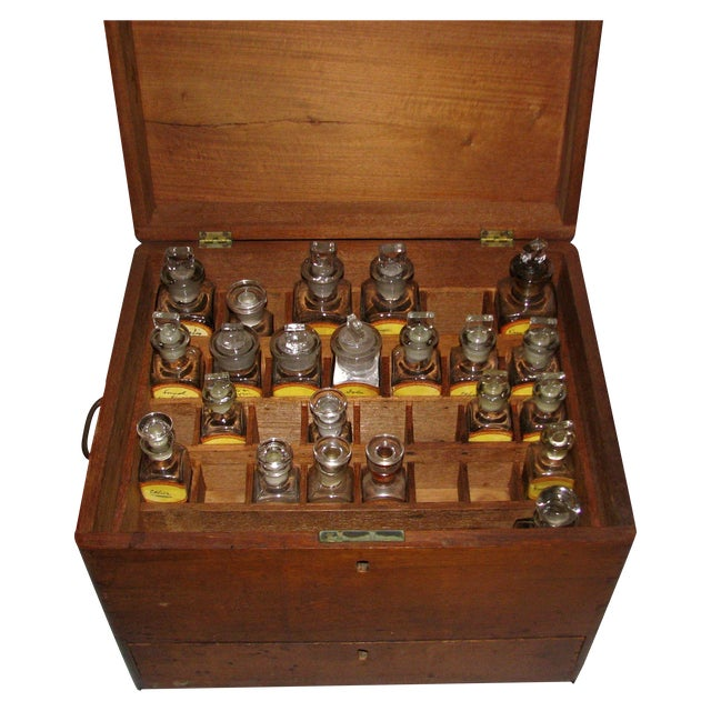 Antique Doctor's Apothecary Cabinet For Sale