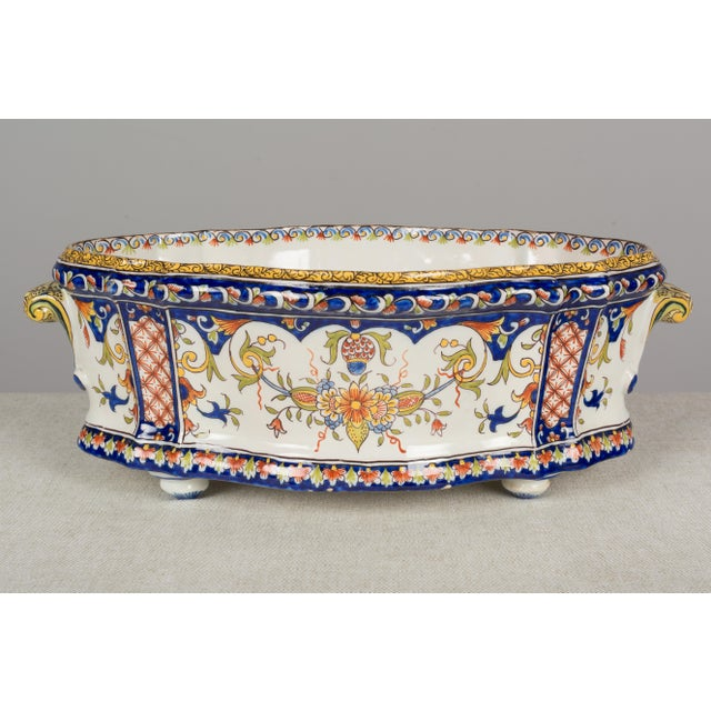 19th Century French Desvres Jardiniere For Sale - Image 10 of 10
