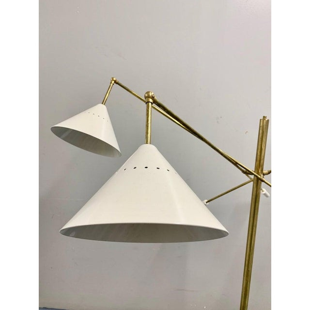 Brass Italian Brass Mid Century Style Floor Lamp For Sale - Image 8 of 12
