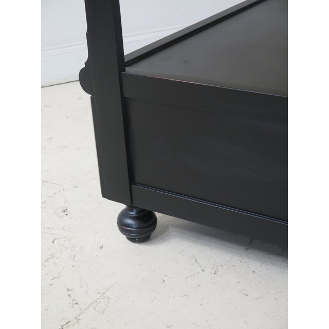 2010s Black Lighted Open Display Curio Shelf For Sale - Image 5 of 8