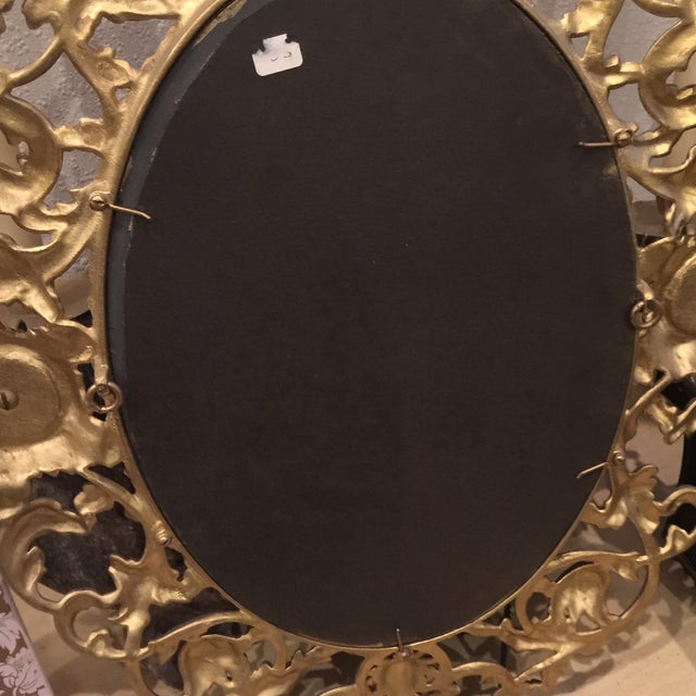 Antique Gold Mirror With Crystal Candles - Image 9 of 10