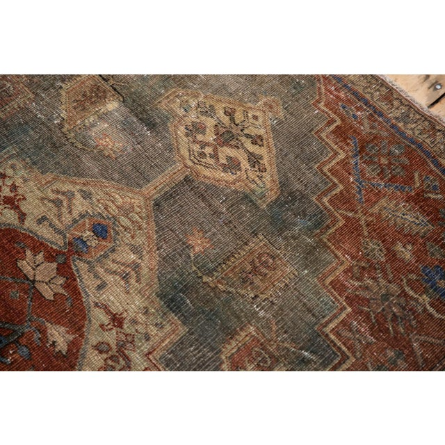 """Red Vintage Distressed Northwest Persian Rug - 4'3"""" X 6'3"""" For Sale - Image 8 of 13"""