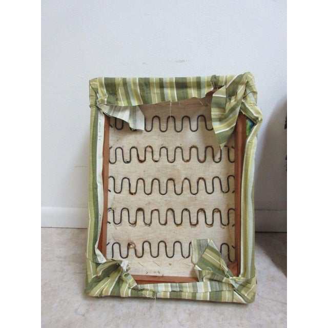 Fabric Antique Storage Footstool Ottoman For Sale - Image 7 of 11