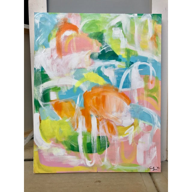 """Punta Cana"" original painting by abstract artist Christina Le Sesne Longoria. Original artwork completed in 2018, this..."
