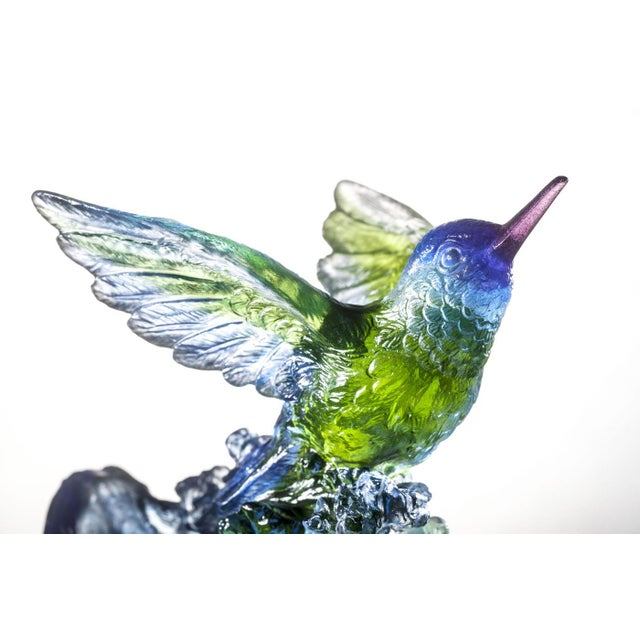 """2020s Liuli Crystal Art Crystal Hummingbird, """"Victory by Daybreak"""" Sculpture (Limited Edition) For Sale - Image 5 of 8"""