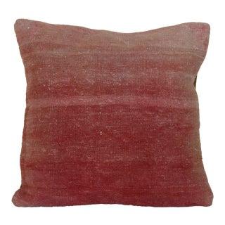1970s Boho Chic Cherry & Blush Rug Pillow