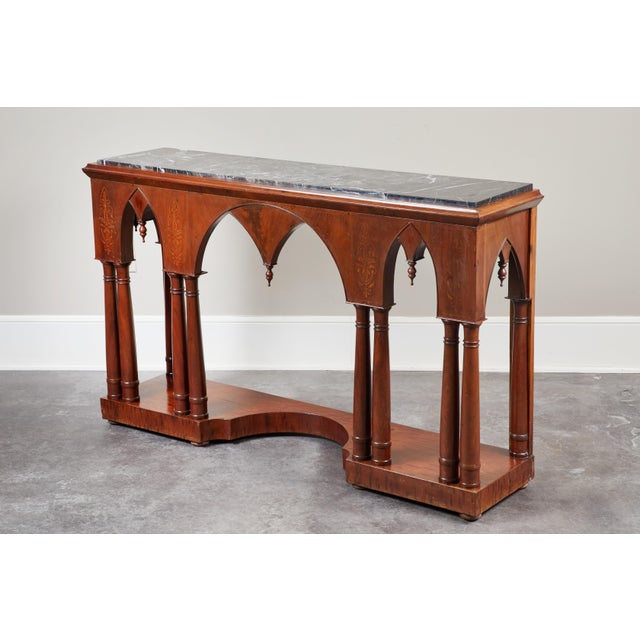 Mahogany Early 19th C French Charles X Mahogany Console For Sale - Image 7 of 7