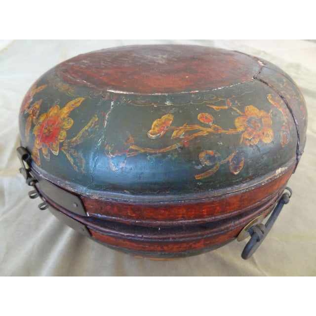 Tibetan Round Wood Box - Image 2 of 10