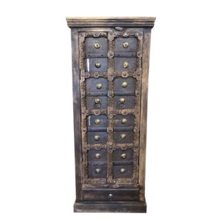 Antique Rustic Cabinet From India For Sale