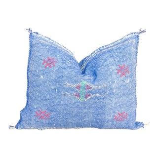 Shamri Lumbar Moroccan Silk Rug Pillow For Sale