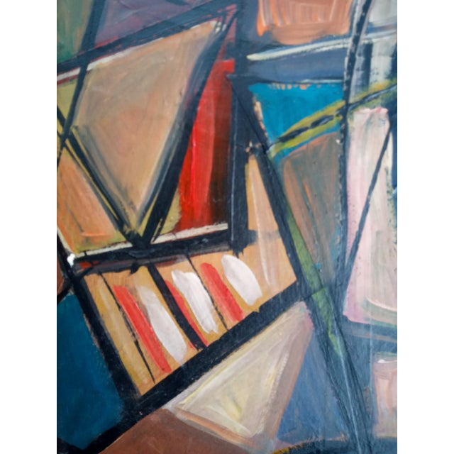 Figurative Late 20th Century Cubist Female Portrait Oil Painting, Framed For Sale - Image 3 of 8