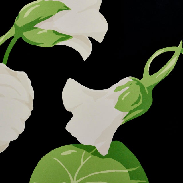 Contemporary Schumacher Nasturtium Wallpaper in Noir (8 Yards) For Sale - Image 3 of 6